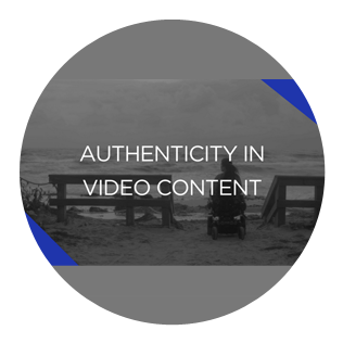 What is authenticity in video content?